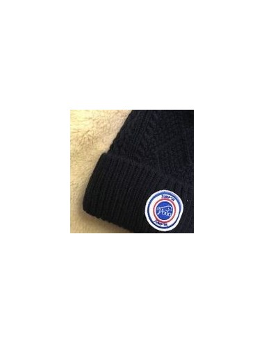 Bobble Beanie with Blue White and Red badge