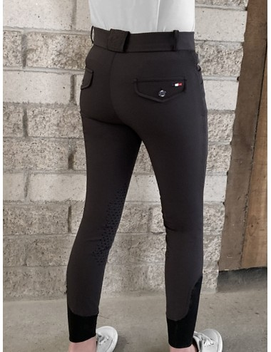 Pantalon d'équitation Junior mixte Sacha - Choco