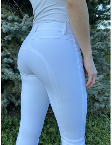 Pantalon d'équitation dame - Super X - Blanc