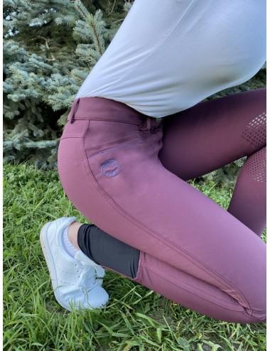 Pantalon d'équitation dame - Super X - Prune