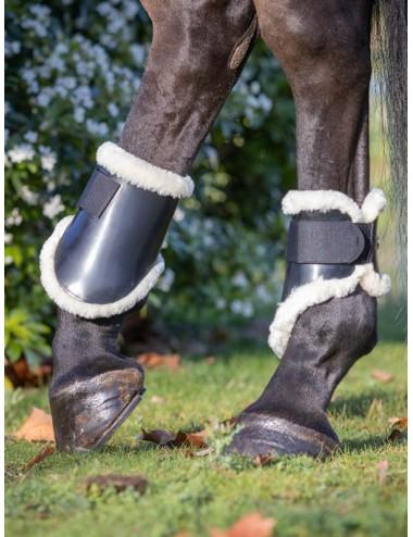 Para Black Synthetic Sheepskin Fetlocks