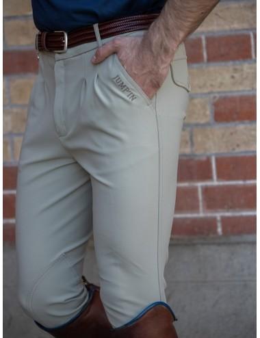 Pantalon d'équitation homme à pinces Tom - Super X - Beige Foncé