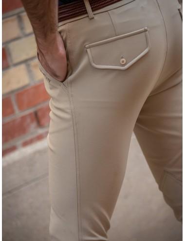 Men's Super X Tom darted breeches - Dark Beige