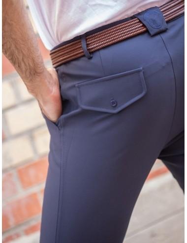 Pantalon d'équitation homme à pinces Tom - Super X - Marine