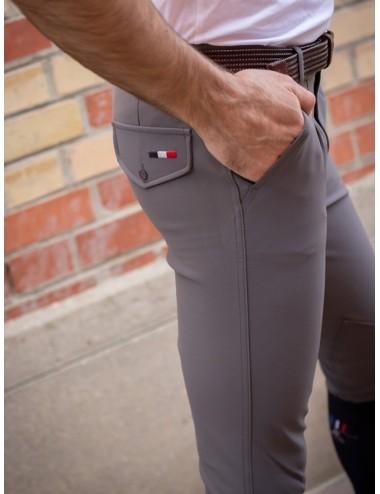 Pantalon d'équitation homme à pinces Tom - Super X - Gris