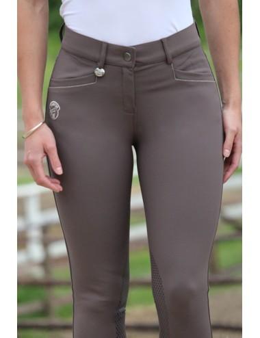 Pantalon d'équitation dame - Super X - Taupe