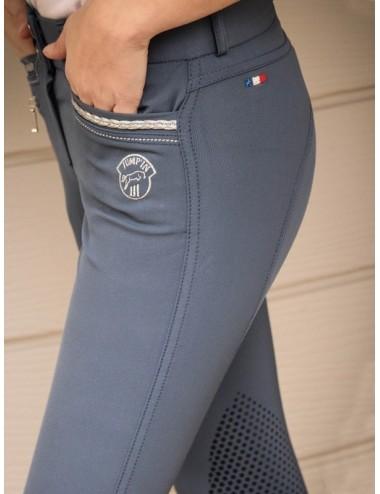 Pantalon d'équitation Junior fille Marie - Bleu officier