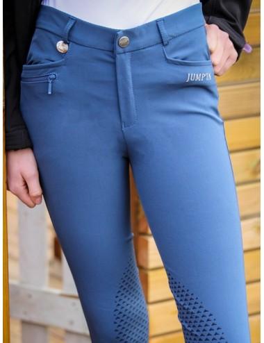 Pantalon d'équitation Junior mixte Sacha - Bleu officier