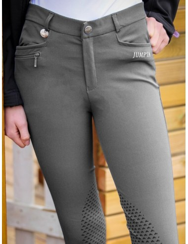 Pantalon d'équitation Junior Mixte Sacha - Gris