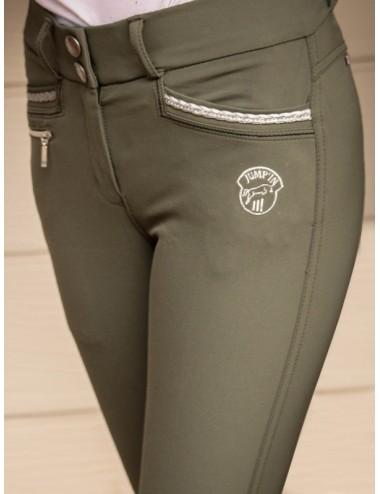 Pantalon d'équitation Junior fille Marie - Kaki
