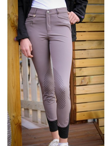 Pantalon d'équitation Junior mixte Sacha - Taupe