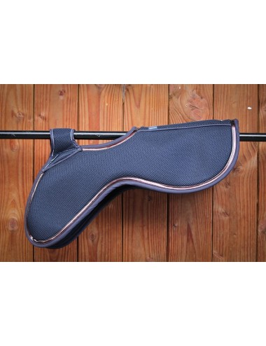 Mesh Pad - Navy and chocolate
