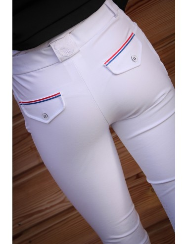 Pantalon d'équitation Junior mixte Sacha - Blanc