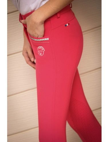 Pantalon d'équitation Junior fille Marie - Rouge