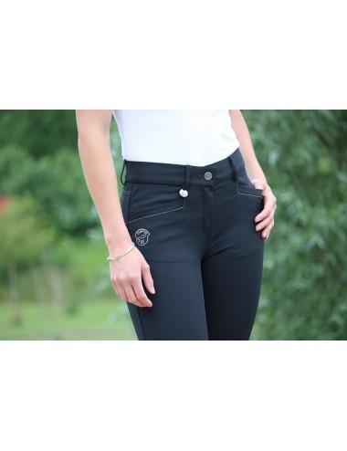 Pantalon d'équitation dame - Super X - Noir